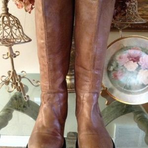 Steve Madden ABBYY-W Tan Leather Boots, Size 10